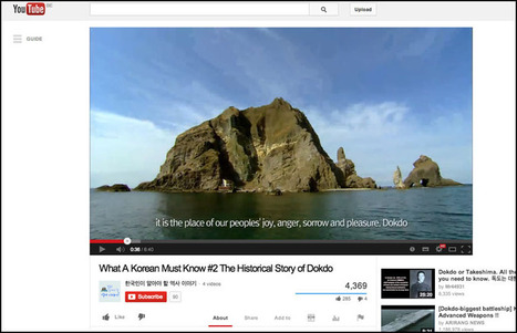 Korea and Japan Take Dokdo Battle to YouTube « KoreAm Journal ... | Takeshima dispute | Scoop.it