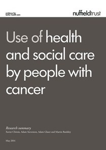 Use of Health & Social Care – Cancer Patients | The Nuffield Trust | Cancer survivorship | Scoop.it