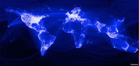 Facebook connections map the world | Geography Education | Scoop.it