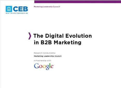 The Digital Evolution in B2B Marketing | Beyond Marketing | Scoop.it