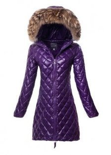 Purple Duvetica Acca Quilted Down Jacket For Women $309.00 | winter wear | Scoop.it