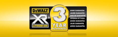 Bénéficiez de la garantie 3 ans sur votre produit XR Dewalt | Le monde de l'outillage professionnel | Scoop.it