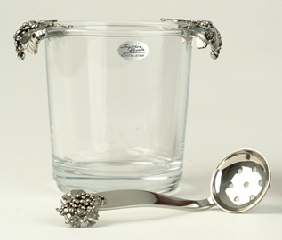 Ice Bucket - Glass With Pewter Grape Handles - Ice Buckets | Home Bar Equipments UK | Scoop.it