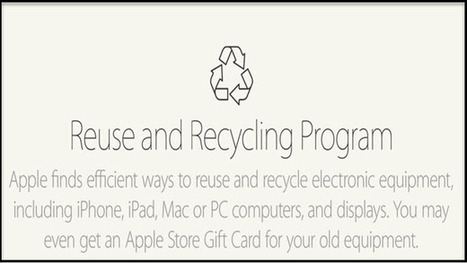 Apple Recycle and Reuse Program | Rishabh | Scoop.it