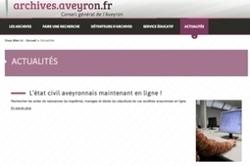 L'état civil de l'Aveyron est en ligne ! | La Revue Française de Généalogie | Brèves de scoop | Scoop.it