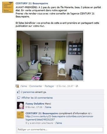 Etude de cas : Century 21 mise sur Facebook pour sa communication   Pascal Faucompré, Mon-Habitat-Web.com   Scoop.it