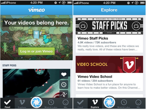 Vimeo launches shiny new iPhone app with faster uploads & better socialsharing | iApp Suggestion | Scoop.it