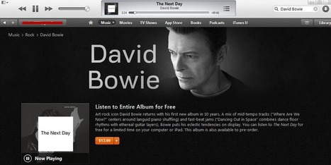 How to Stream Bowie's Latest Album for Free Through March 12 | Stream & Download 411 | Scoop.it