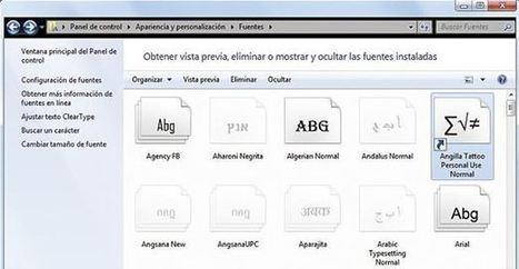 Diario Tecnologico - Tutorial: Usar fuentes en Windows 7 sin que estén instaladas | Informatica Tejedor | Scoop.it