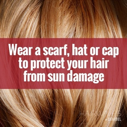 Wear a scarf, hat or cap to protect your hair from sun damage | Fashion in UAE | Scoop.it