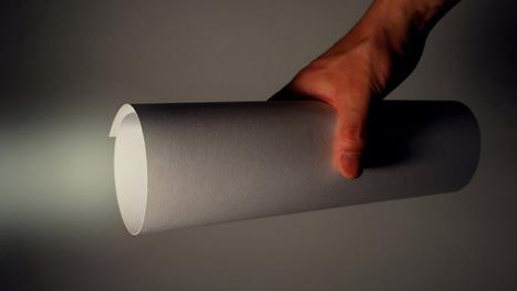 Una linterna con sólo una hoja de papel | Diseños y Soluciones | Scoop.it