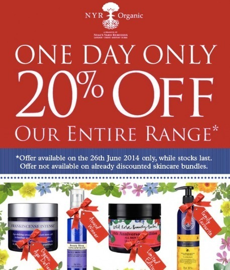 NYR is about to have a 20% off day we are having on THURSDAY | Neal's Yard Organic.. | Scoop.it
