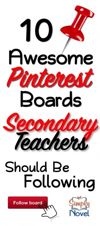 10 Pinterest Boards Secondary Teachers Should Be Following | Simply Novel Teaching Ideas | Technology in the Classroom | Scoop.it