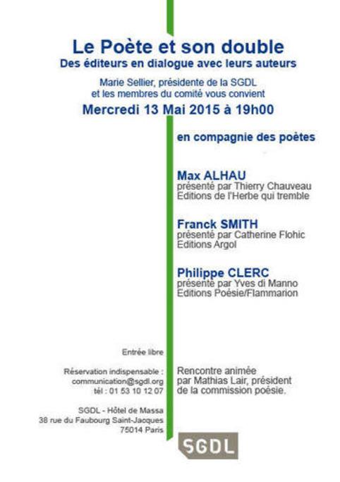 [agenda] 13 mai, Paris, Le poète et son double | Poezibao | Scoop.it