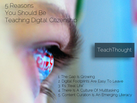 5 Reasons You Should Be Teaching Digital Citizenship | Digital Citizenship Today | Scoop.it