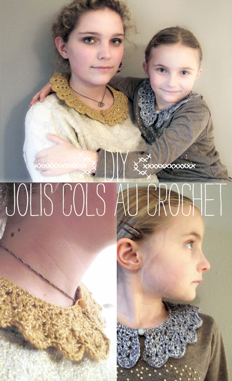 DIY : DES COLS AU CROCHET POUR LES FETES | Du fait main & some handmade | Scoop.it