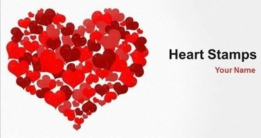 Heart Stamps PowerPoint Template for Valentine's Day presentation | Digital Presentations in Education | Scoop.it