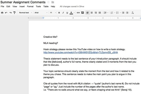 Google Docs: Grading Tips & Tricks | Using Google Drive in the classroom | Scoop.it