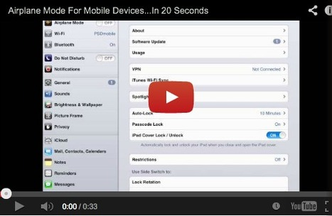 iPaddiction: Airplane Mode For Mobile Devices...In 20 Seconds | iPads, MakerEd and More  in Education | Scoop.it