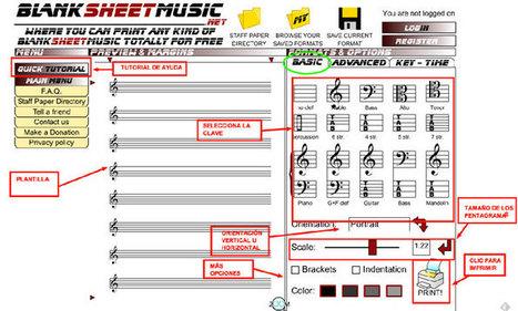 Crea e Imprime tus propias plantillas de Papel Pautado con Blank Sheet Music   Música y TIC   Scoop.it