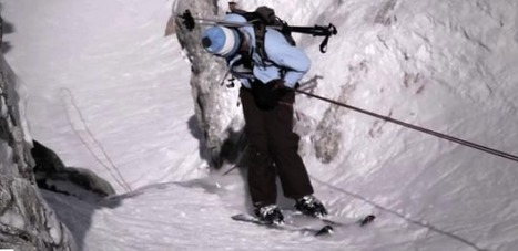 It could almost run without rappel. Almost. | Freeride skiing | Scoop.it