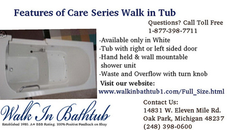 Features of Care Series Walk in Tub | Kitchen Bath Store | Scoop.it