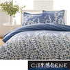 City Scene Branches French Blue 3-piece Comforter Set | Overstock.com | Blue and White Bedding | Scoop.it