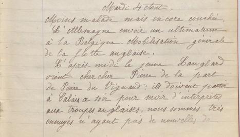 4 août 1914 – «On conseille à mère d'enterrer l'argenterie» | La Grande Guerre de Marthe | 14-18 la mémoire | Scoop.it