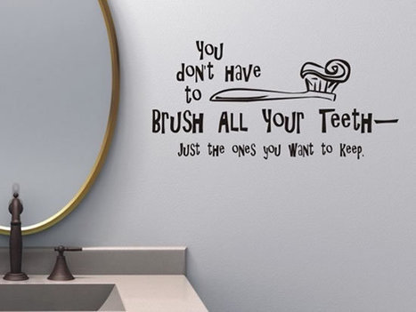 Creative and Fun Bathroom quote wall stickers - Amazing Interior ... | All Things Kitchen and Bath | Scoop.it