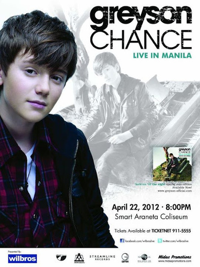 The Official Website of Manila Concert Scene - Philippines' No 1. Concert Site: Greyson Chance Live in Manila 2012 | Greyson Chance Fans News | Scoop.it