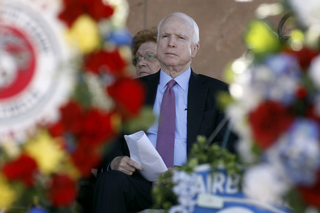As John McCain fights for reelection, the Trump problem cuts two ways — both against him - LAtimes.com | PSYOP | Scoop.it