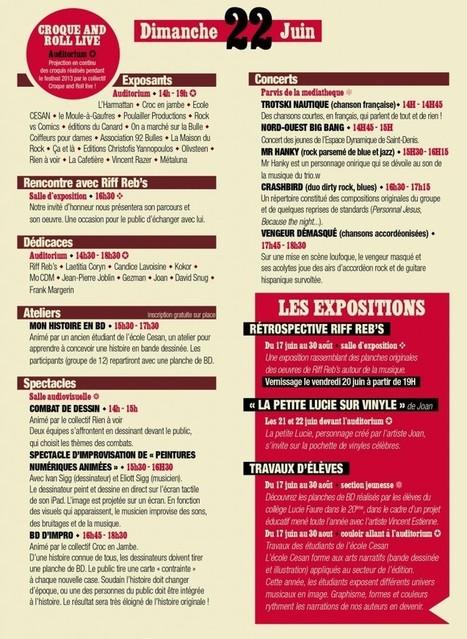 Programme Festival Bulles Zik 2014 | MDBD | Scoop.it