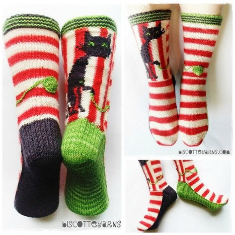 """""""Biscotte's Folly"""" Cat Socks 