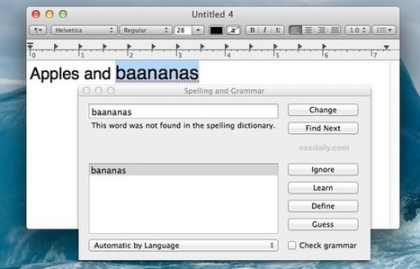 Summon a Spelling & Grammar Check Tool in Mac OS X with a Keyboard Shortcut | All Things Mac | Scoop.it