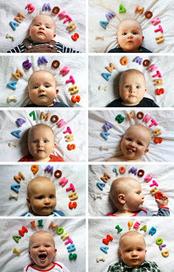 Ju2Framboise : Tuto. Une photo de mon bébé par mois DIY | Créations, Idées, DIY | Scoop.it