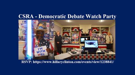 CSRA - Democratic Debate Watch Party | HillaryClinton.com | 12/15/15 | Hillary In 2016 | Scoop.it
