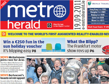 World's first (?!) augmented reality game & video based newspaper hits presses | Pervasive Entertainment Times | Scoop.it