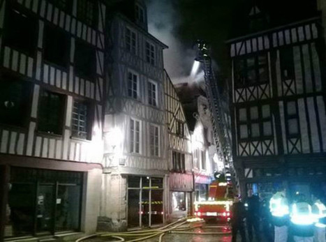 Rouen. Violent incendie dans le centre-ville de Rouen : un locataire ...   La France en villes   Scoop.it