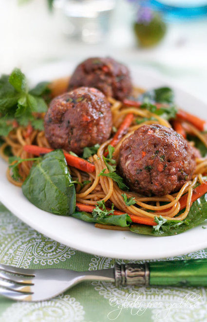 #RECIPE - Turkey Meatballs with Asian Style Noodles | Best of me | Scoop.it