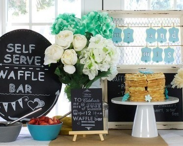 DIY Friday: How to create a wedding brunch waffle bar by Fiskars (recipes too!) | Party planning | Scoop.it