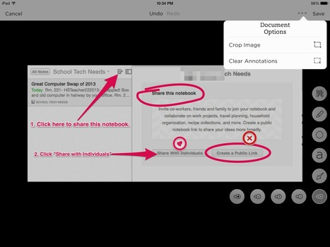Evernote Use #10- Annotate an Image  #50EduEvernote | Websites Classroom | Scoop.it