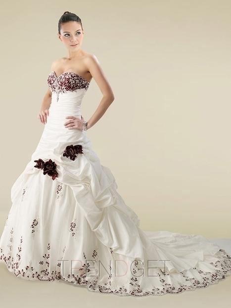 2013 Cheap A-line Princess Sweetheart Floor-length Wedding Dresses $183.99 - Trendsget.com   Wedding   Scoop.it