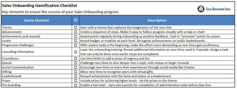 Sales Onboarding Gamification Checklist   Sales Learning and Development (L&D)   Scoop.it