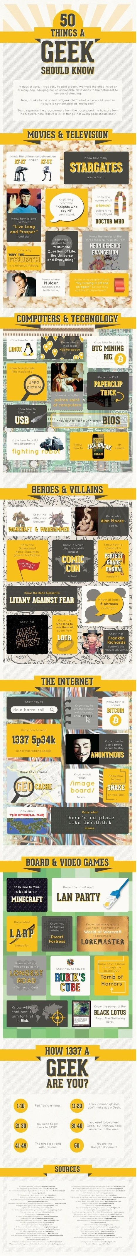 50 Things a Geek Should (Apparently) Know [Infographic] | AileR | Scoop.it