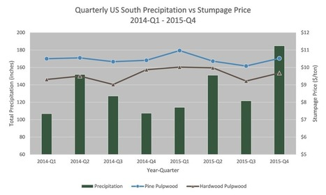 Record Precipitation in 4Q2015 has Little Effect on US South Stumpage Prices | Timberland Investment | Scoop.it