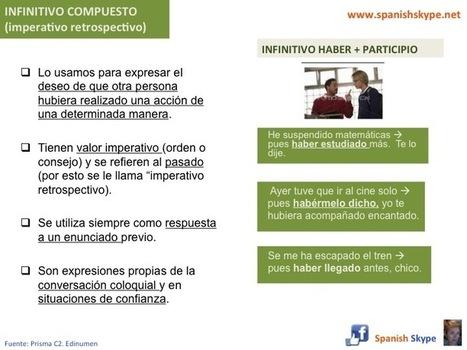 Infinitivo compuesto (imperativo retrospectivo) - Spanish Skype Lessons   Aprender español online via skype   Scoop.it