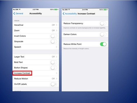How To Decrease White Point or Transparency On Your iPhone and iPad | GoToWebsites | Scoop.it