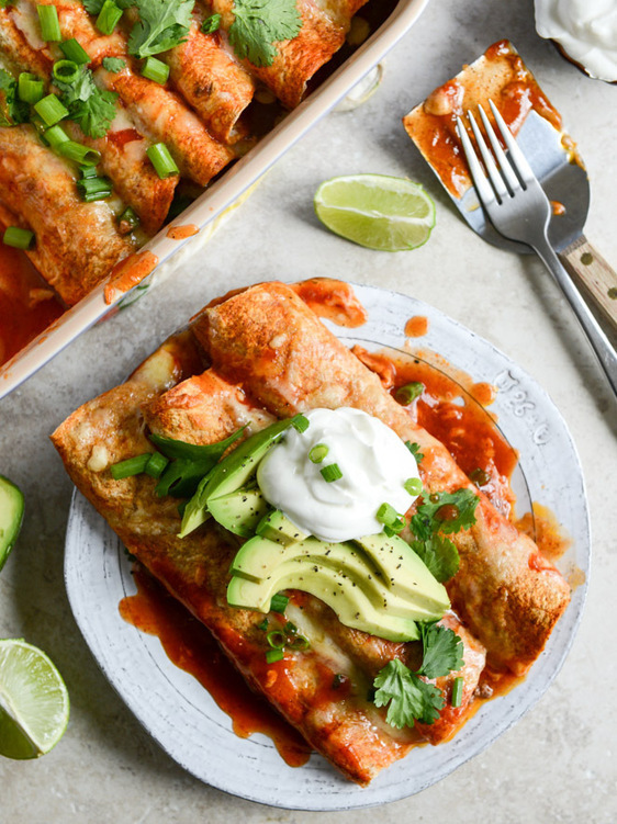 Our Favorite Lightened Up Beef Enchiladas with ...