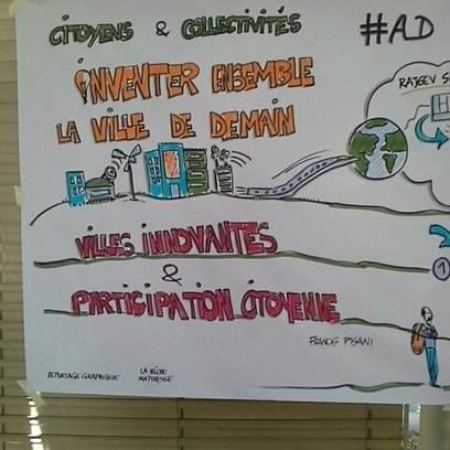 """facilitation graphique"" de la conf de @francispisani faite en live par la bûche maitresse. #mn_2013 