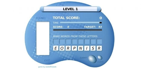 Good English Vocabulary Game - 8 Letters In Search Of A Word - abc123English | English Language Games | Scoop.it